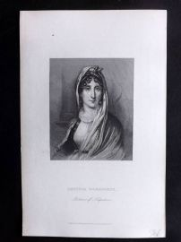Bentley 1882 Antique Portrait Print. Letitia Bonaparte, Mother of Napoleon